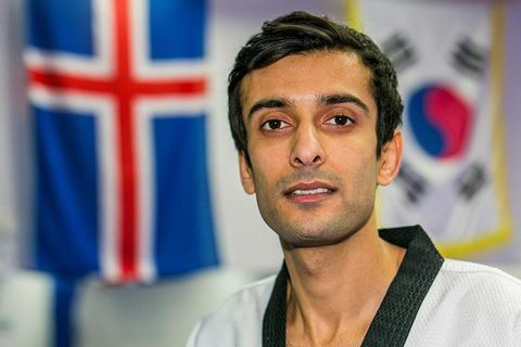 Icelandic citizen Meisam Rafiei is a tae kwon do champion and was on his way to compete for Iceland in the US.