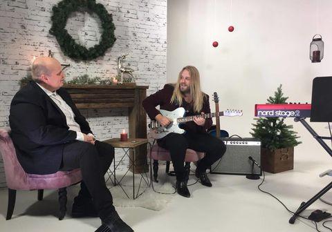 Eyþór Ingi er fyrsti gestur í K100 Live Lounge.