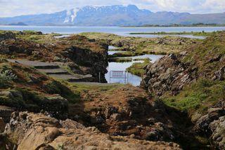 Silfra á Þingvöllum.