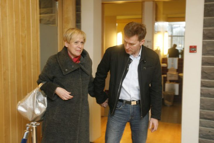 Ingibjörg Sólrún Gísladóttir og eiginmaður hennar, Hjörleifur Sveinbjörnsson.