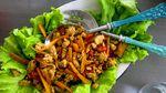 Taílenskar salatvefjur með kjúklingi