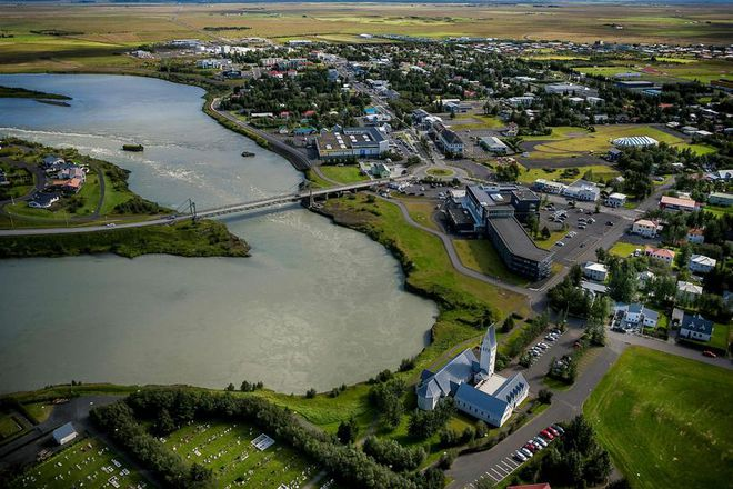 The town of Selfoss in South Iceland.