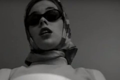 Katrin Jakobsdóttir in the video Listen Baby, a single released by the Bang Gang in 1996.