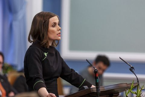 Katrín Jakobsdóttir, leader of the Left Green party wants Icelandic customers to be able to decide for themselves if they want to support the economy of illegally occupied territories in Palestine.