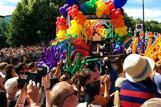 35.000 manns fögnuðu fjölbreytileikanum á Oslo Pride í dag.