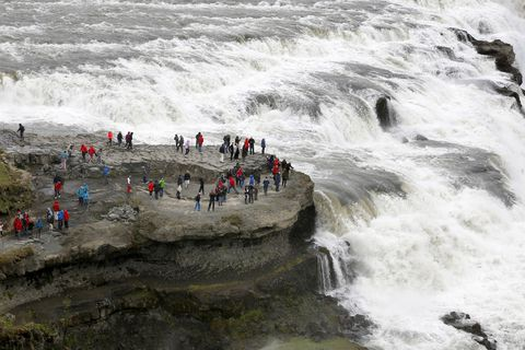 Gullfoss is a part of the so called Golden Circle and one of the most popular tourist destinations in Iceland.
