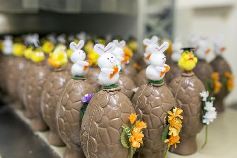 Chocolate eggs are produced by all of Iceland's main candy factories and are available in many different sizes.