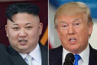 Kim Jong-un, leiðtogi Norður-Kóreu, og Donald Trump Bandaríkjaforseti. Hvorugur virðist tilbúin að láta í lægra ...