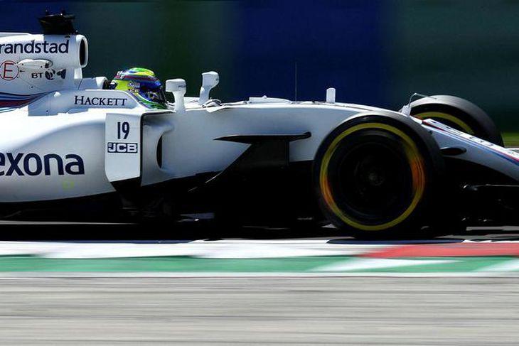Felipe Massa á æfingu í Búdapest í gær.