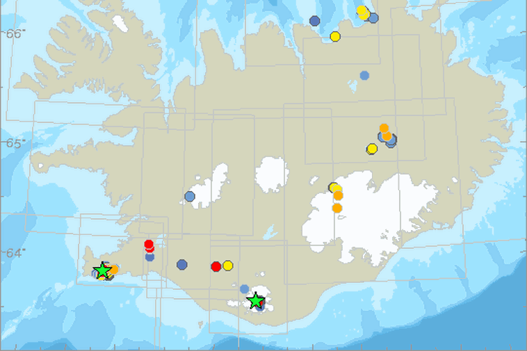 An earthquake of the magnitude of 3 occurred at Katla just after midnight.