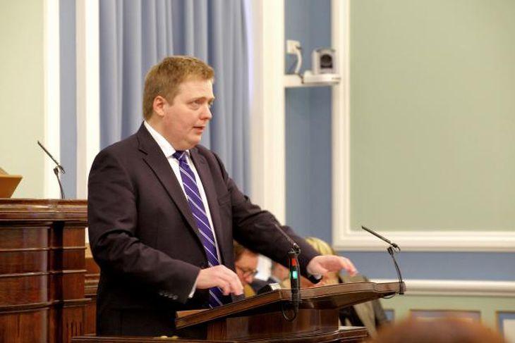 Sigmundur Davíð Gunnlaugsson, forsætisráðherra, flytur skýrslu sína í dag.