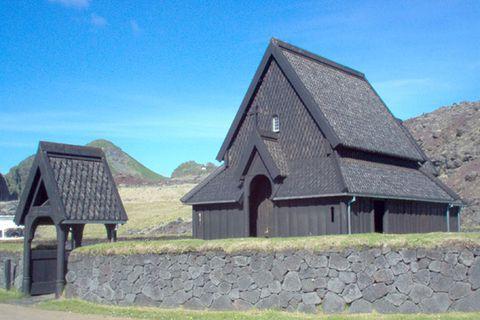 Stave Church Westman Islands