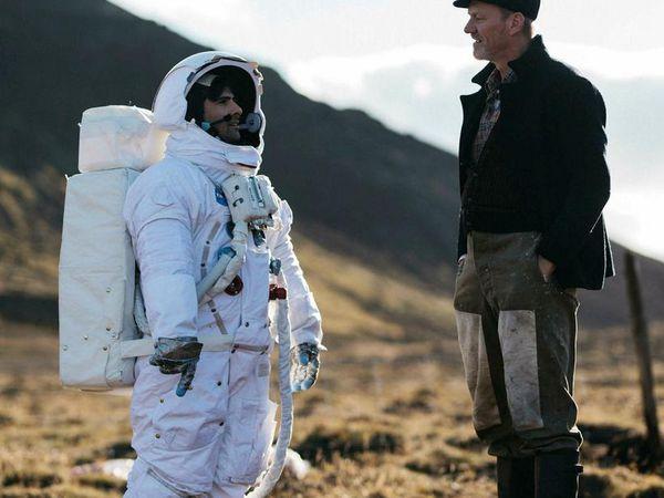 Jason Schwarzman plays an astronaut and Ingvar E.Sigurðsson an Icelandic sheep farmer.