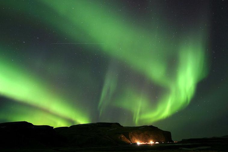 The northern lights can apparently be a big distraction for drivers.