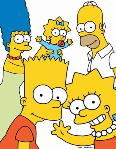 Simpsons-fjölskyldan.