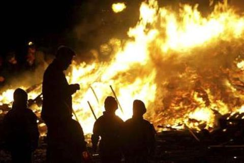 Families like to gather at bonfires on New Year's Eve, an evening associated with elves and the hidden people in Icelandic folklore.