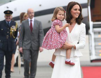 Karlotta prinsessa var í skóm af Harry frænda sínum.