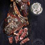 Rib-eye-steik með gráðostasmjöri