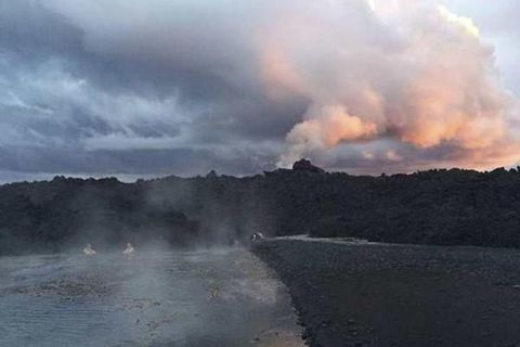 A new hot stream has formed at the far eastern end of Holuhraun.