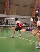 Glæsileg tilþrif í badminton