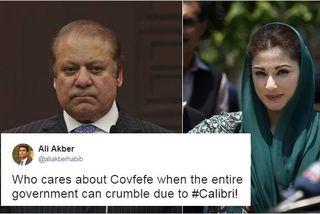 Nawaz Sharif forsætisráðherra og dóttir hans Maryam eru í miðju mikils hneykslismáls sem skekur nú ...