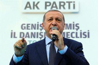 Recep Tayyip Erdogan, forseti Tyrklands, telur að útlagaklerkurinn Fethullah Gulen standi á bak við misheppnaða ...