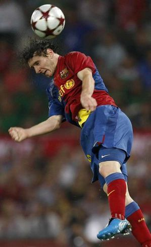 Messi hitti boltann vel.