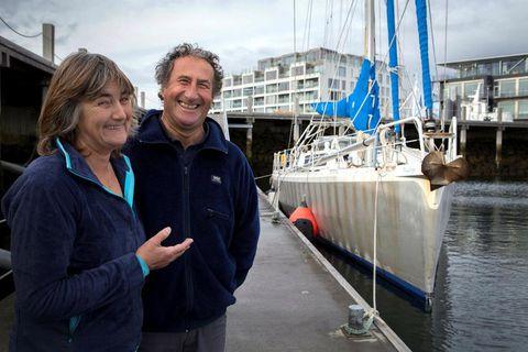 Fred and Frédo at Reykjavik harbour.