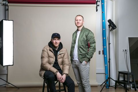 Sindri Snær Jensson and Jón Davíð Davíðsson, owneres of hip streetwear shop Húrra and also the owners of the new pizza place set to open at Grandi.