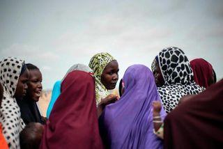 106 skólastúlkum sem var rænt af vígamönnum Boko Haram í Nígeríu árið 2014 munu ganga ...
