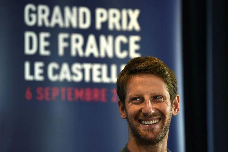 Franski ökumaðurinn Romain Grosjean hjá Haas ræddi við blaðamenn og lýsti Paul Ricard brautinni er ...