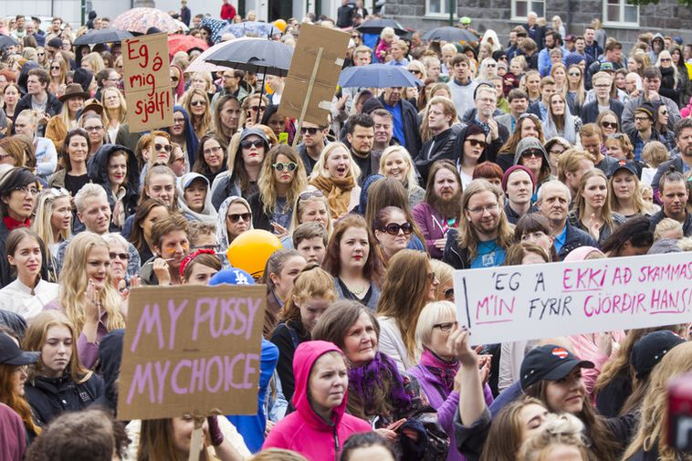 Thousands attended the Reykjavik Slut Walk 2015
