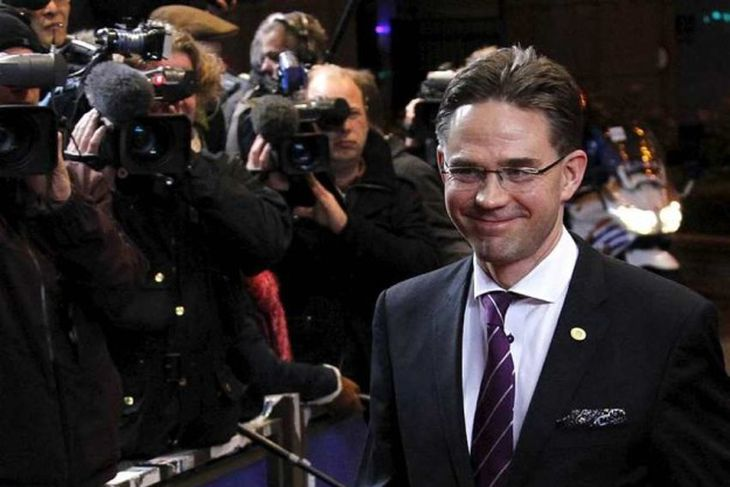 Finland's Prime Minister Jyrki Katainen arrives at an European Union summit in Brussels December 8, ...