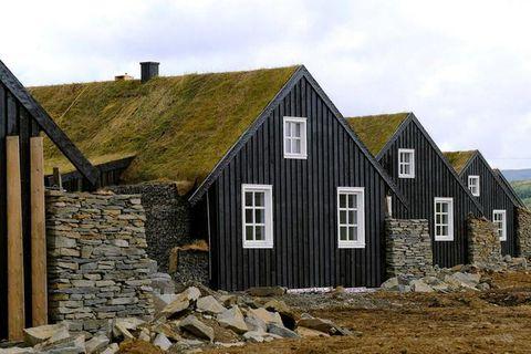 The turf-houses in Biskupstungur.