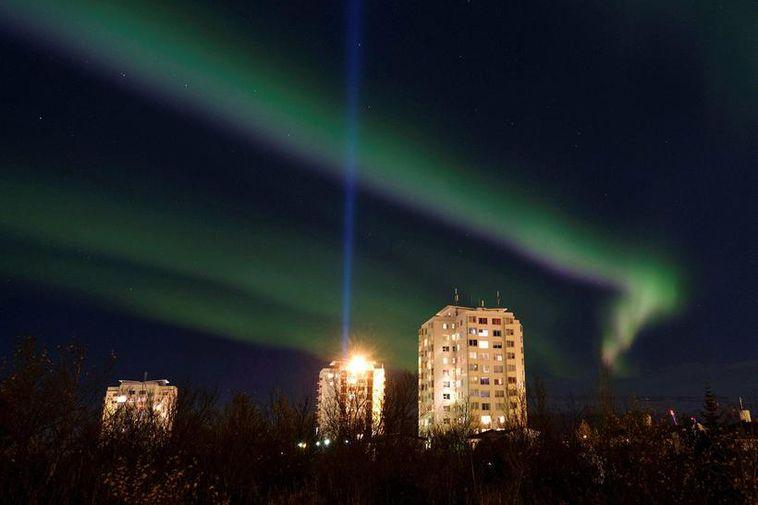 The Northern Lights last night over Reykjavik were stunning.