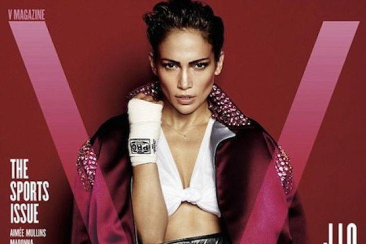 Jennifer Lopez á forsíðu nýjustu útgáfu tímaritsins V.