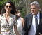 Amal, og eiginmaður hennar George Clooney,
