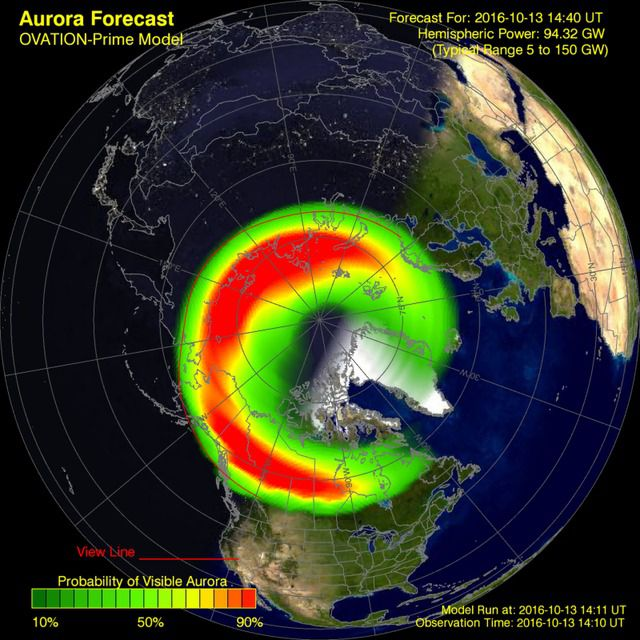 Great northern lights forecast tonight where it 39 s not for Chance of seeing northern lights tonight