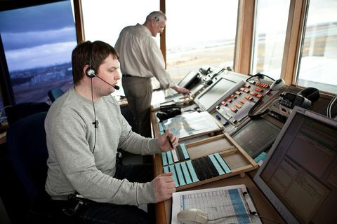 Air traffic controllers feels that their pay has fallen far behind that of other groups.