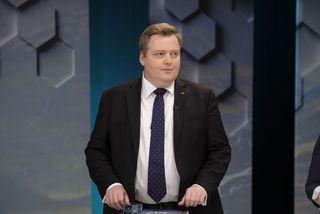 Sigmundur Davíð Gunnlaugsson, formaður Miðflokksins, á fundi formanna á RÚV.