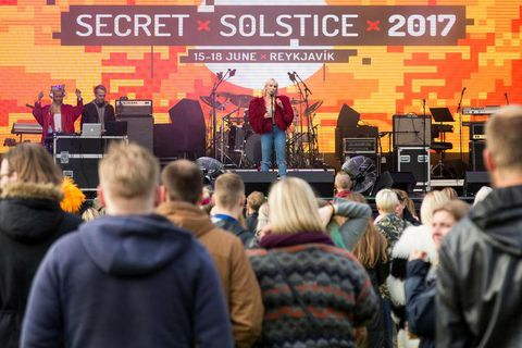 Secret Solstice music festival took place in Reykjavik last weekend.