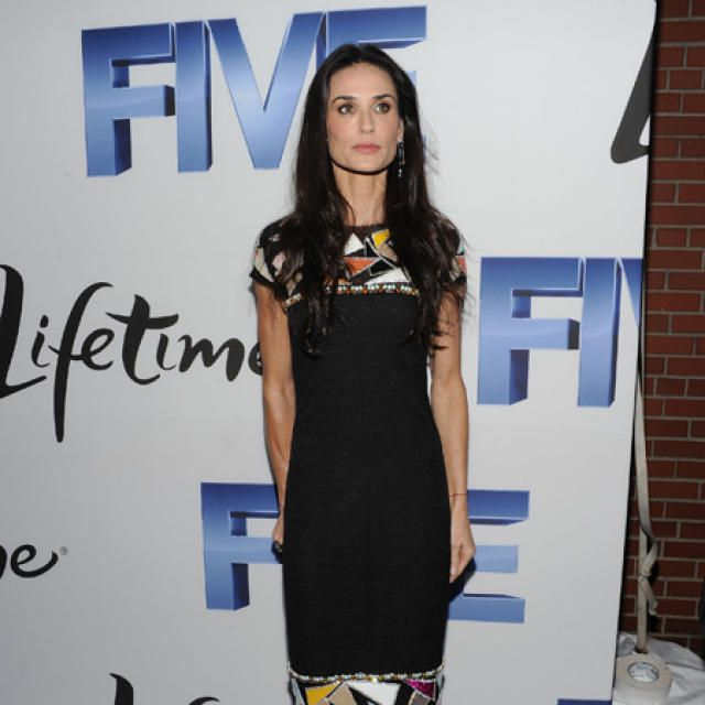 Demi Moore, horuð og tekin.     <em>mbl.is/Cover media</em>