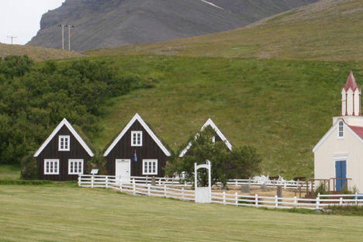 Hrafnseyri við Arnarfjörð. Fæðingarstaður Jóns Sigurðssonar