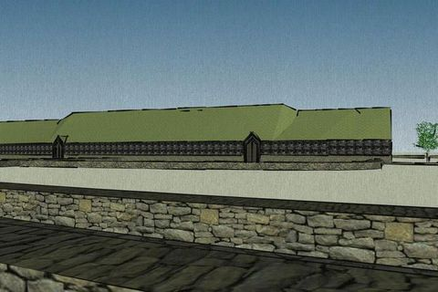 The longhouse will be the centrepiece of the village, and will feature exhibitions and a restaurant.