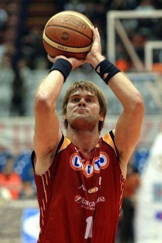 Jón Arnór Stefánsson í leik með Lottomatica Roma.