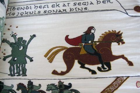 Vatnsdæla on a tapestry