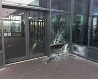 The damages in Keflavik Airport.