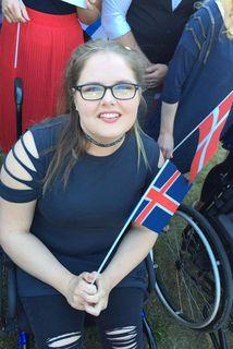 Áslaug er ánægð með dvölina í Svíþjóð.