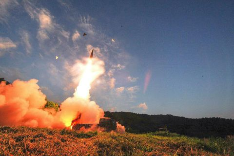 South Korea started testing its missiles soon after North Korea nuclear test.