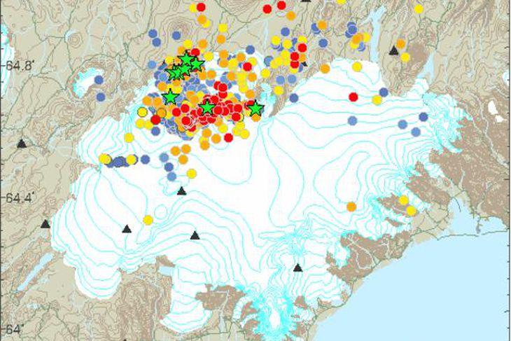 Earthquakes in and around Bárðarbunga.